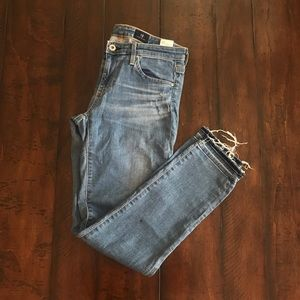 AG Distressed Jeans, The Stevie Ankle